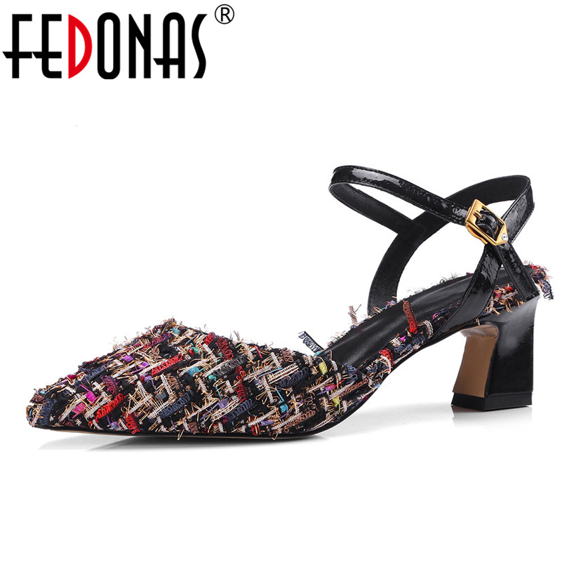 FEDONAS Fashion Women Pumps Brand High Heel Spring Summer Pointed Toe Wedding Party Shoes Woman Sexy Ladies High Heels Pumps hot 2016 new fashion t strap buckle pumps women high heels ladies sexy pointed toe summer party wedding patchwork shoes sandals