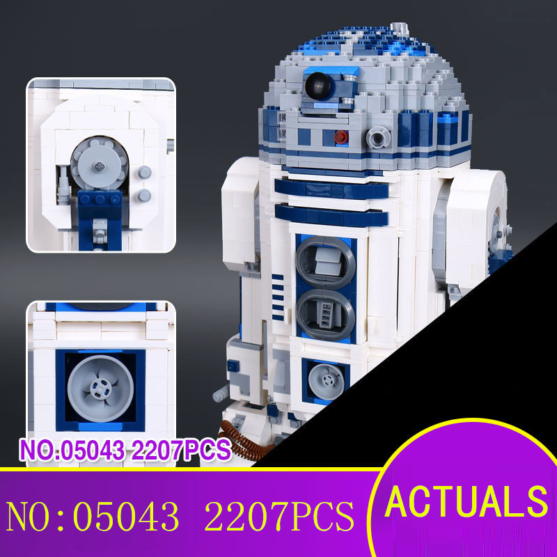 Robot Building Blocks LEPIN 05043 2127Pcs Star Series Wars R2-D2 Bricks Model Educational Toys 10225 Children Boys Toys Gifts new 2127pcs lepin 05043 star war series r2 d2 the robot building blocks bricks model toys 10225 boys gifts