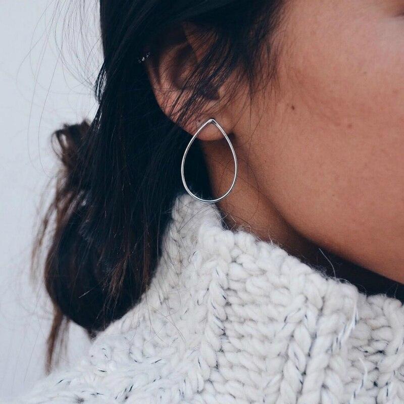 New Earrings Simple Wild Personality Copper Women's Water  Earrings Fashion Hot Sale Jewelry Wholesale
