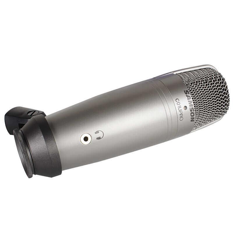 Samson C01U Pro micrófono condensador de estudio USB con monitorización en tiempo Real micrófono condensador de diafragma grande para transmisión