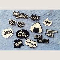 1 PC Letters Acrylic Badge Kawaii Harajuku Pin Badges Backpack Brooches Decoration English Pins Brooch