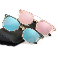 OOBON 2017 New Cat Eye Sunglasses Women Gradient Sun Glasses Female Aluminum Coating Relief Casual Outfits Glasses Gafas DF686