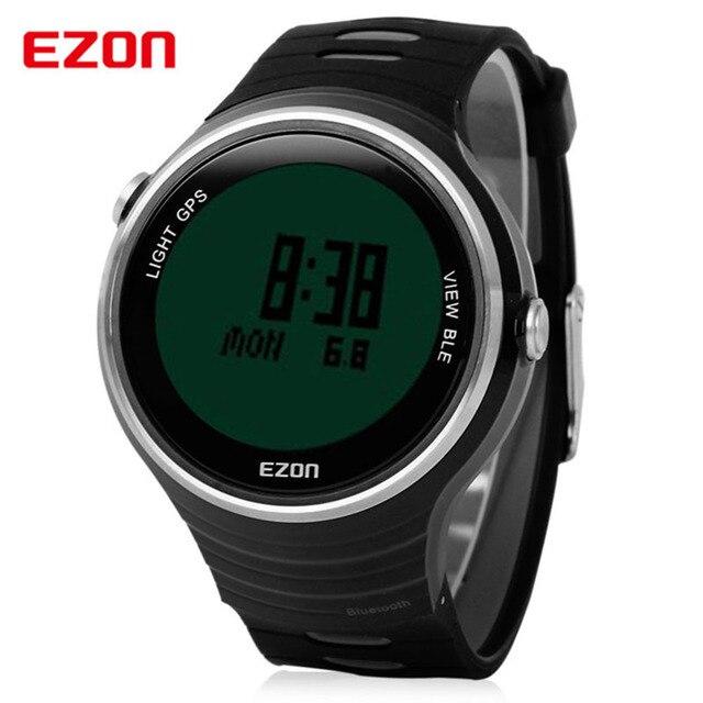 4ed75ba4c27 Ezon GPS relógio Bluetooth inteligentes Sports Running Men relógios digitais  de aço inoxidável à prova d