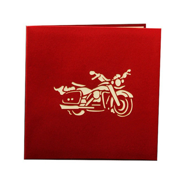 3d motorcycle model funny 3d paper laser cut greeting cards birthday