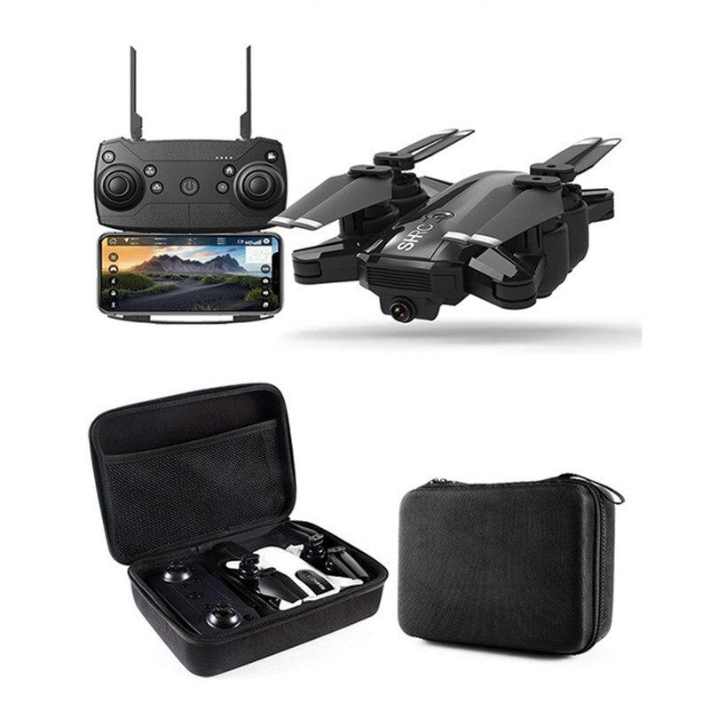 Double caméra Drone 1080 P HD Caméra Follow me WIFI FPV quadcopter rc Pliable Selfie Vidéo En Direct le Maintien D'altitude Retour Automatique RC Dron