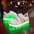 Monkids Boys Girls Shoes Children Glowing Sneakers Band Stripe Lamp Kids Light Up Shoes Shine Sneakers Fashion Single Shoes