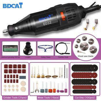 цена на BDCAT 180W Electric Dremel Mini Drill Polishing Grinder Machine Variable Speed Power Tools with 186pcs Rotary Tool Accessories