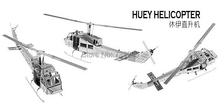 Huey Helicopter Miniature 3D Three Dimensional Puzzle Model DIY Nano Bulid Metal 3D Solid Puzzle Model