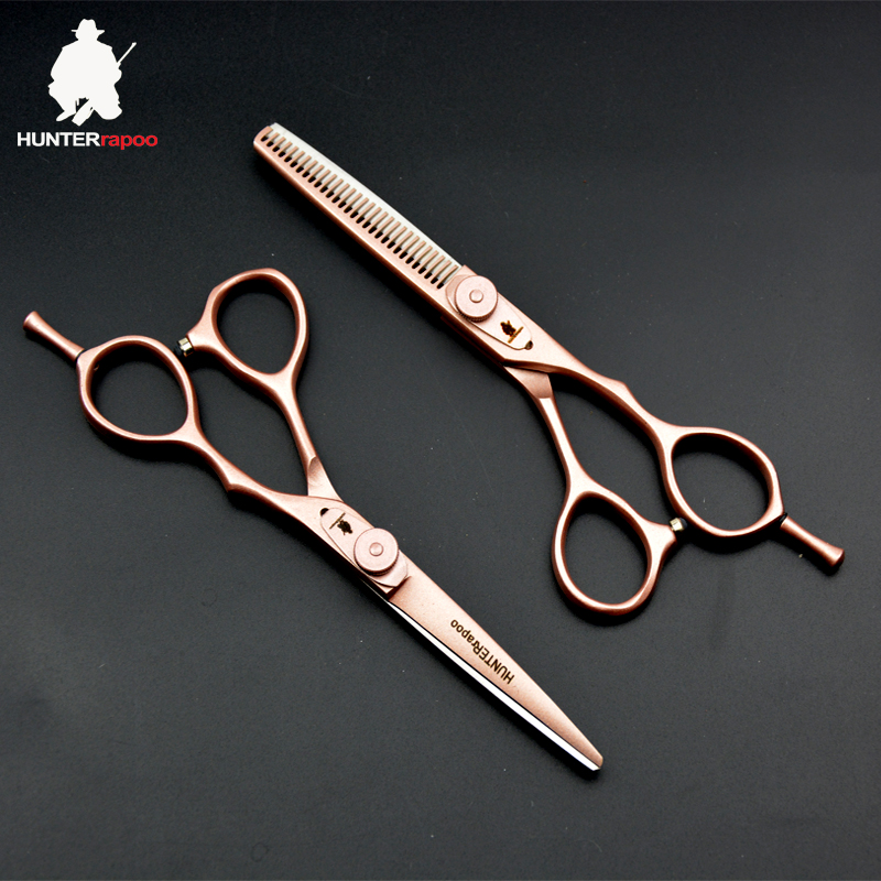 30 OFF Japan Stainless Steel Rose Golden Hair dressing salons scissors kit for haircut thinning shears HT9132 hairdresser tools in Hair Scissors from Beauty Health