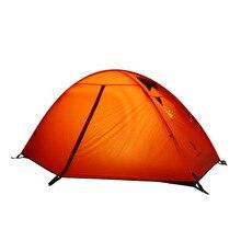 هيلمان شخص واحد طبقة مزدوجة عالية الجودة المهنية مقاوم للماء أقطاب الألومنيوم التخييم خيمة خيمة للشاطئ خفيفة Barraca