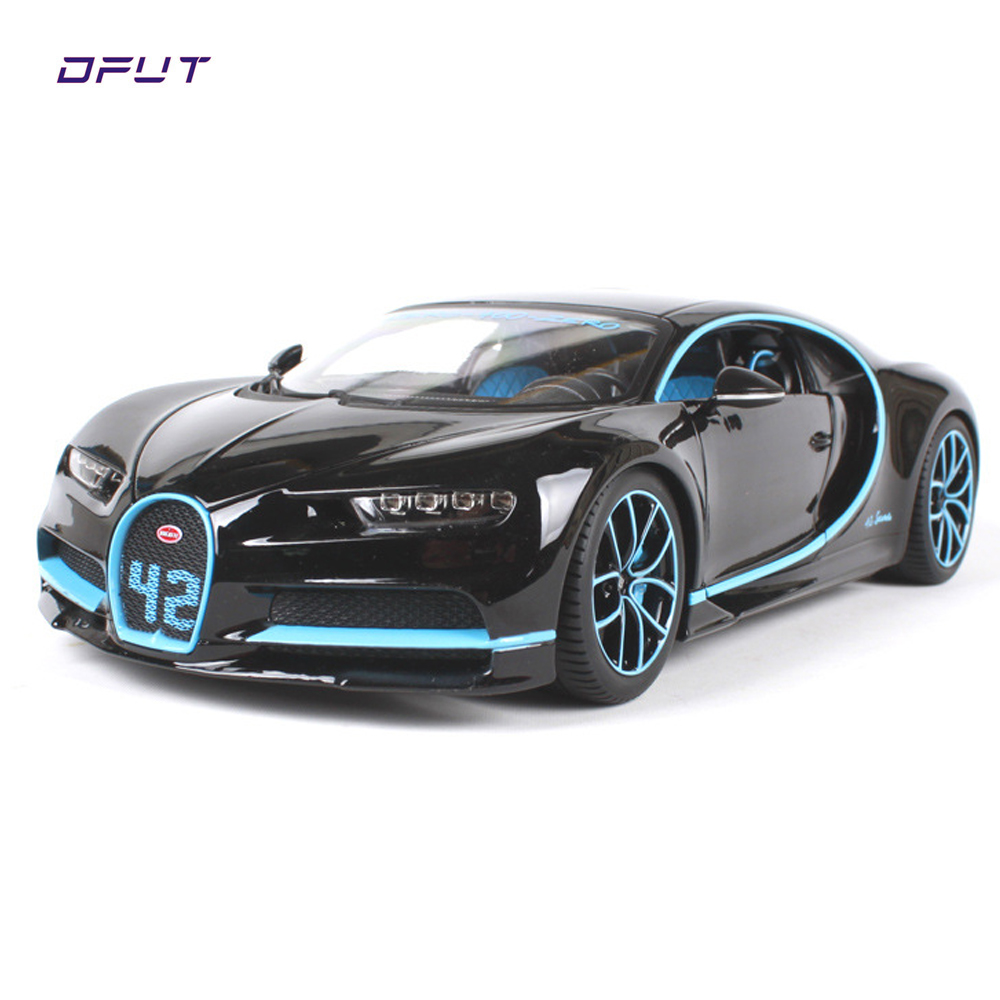 Bburago 1:18 Bugatti Chiron Metal Diecast Alloy Car Model Toy For Kids Christmas Gifts Toys Collection Free Shipping