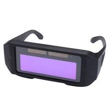 Safurance Solar Powered Auto Darkening Welding Mask Helmet Eyes Goggle Glasses Workplace Safety Protection