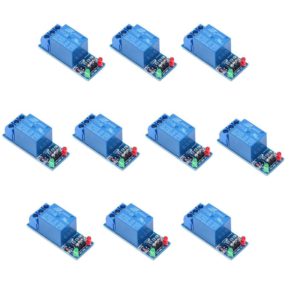 10pcs 1 Channel 5V Relay Module Low level for SCM Household Appliance Control For Ar-duino