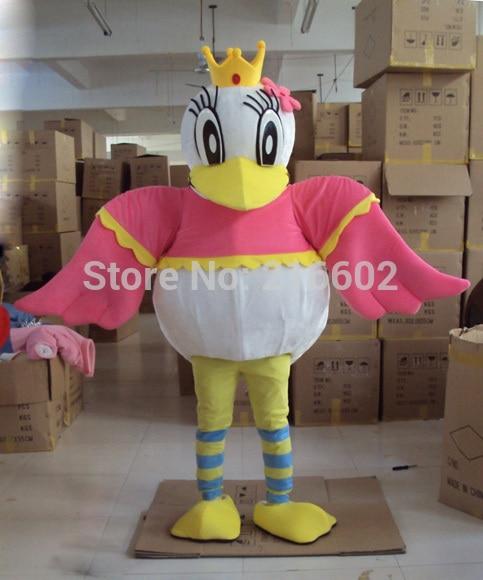 2017 offre spéciale Costume de mascotte de reine de canard Costume de personnage adulte livraison gratuite