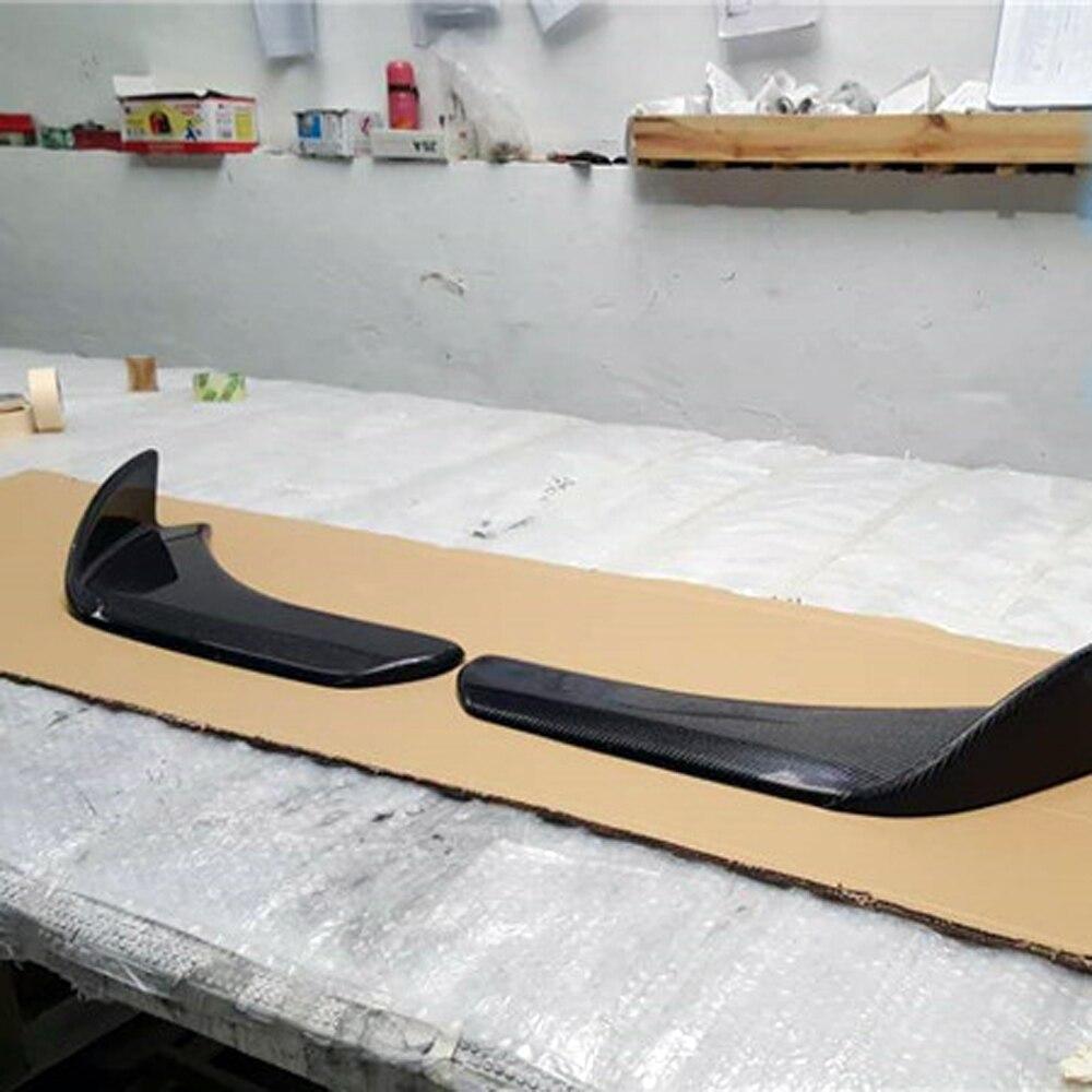 A1 A3 A4 A5 A6 A7 A8 Universale In Fibra di Carbonio Laterale Del Corpo kit Paraurti Lip Splitter Grembiule per Audi