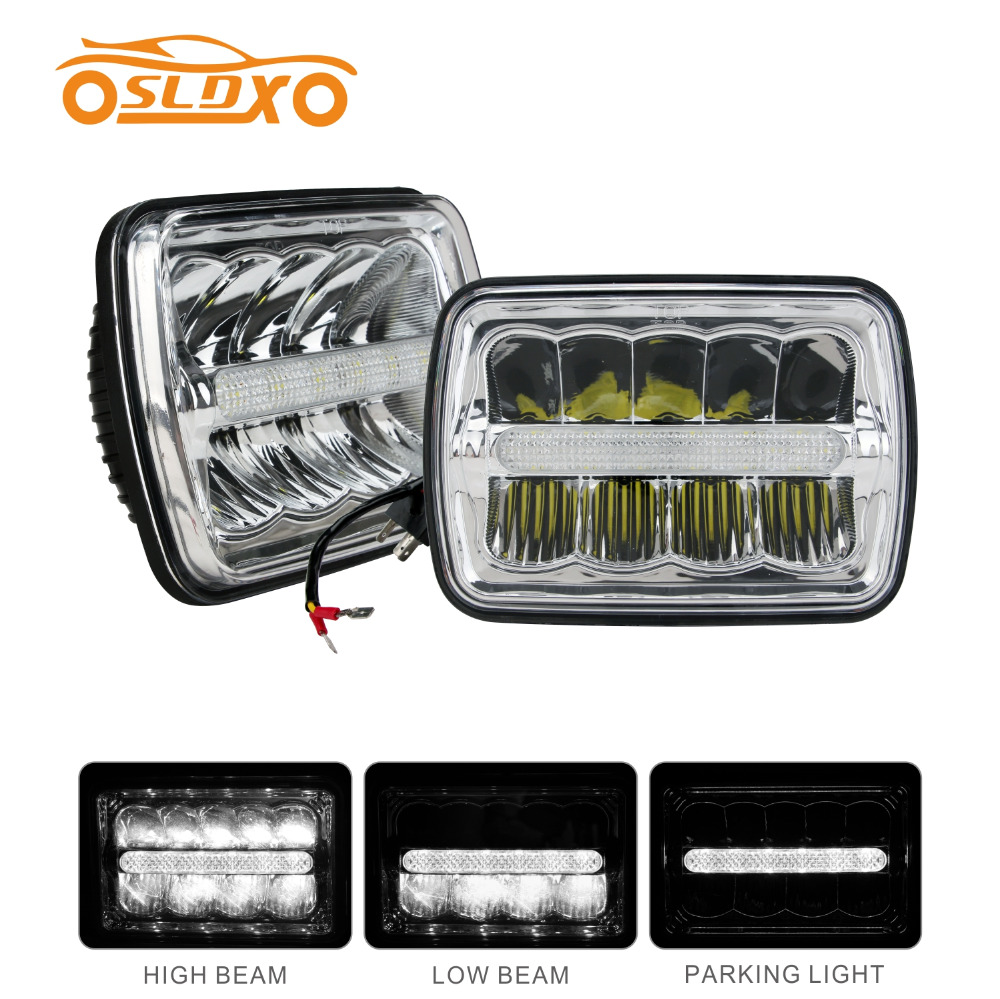 SLDX 5 x 7 Inch Led Headlight (One Pair) Sealed Beam High/Low Beam With Parking Light  -2 Year Warranty electronic parking brake epb service tool ep21 multilingual updatable one year warranty