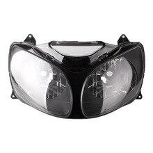 For 00-02 Kawasaki Ninja ZX12R ZX 12R Motorcycle Front Headlight Head Light Lamp Headlamp CLEAR 2000 2001 welly 12167p велли модель мотоцикла 1 18 motorcycle kawasaki 2001 ninja zx 12r
