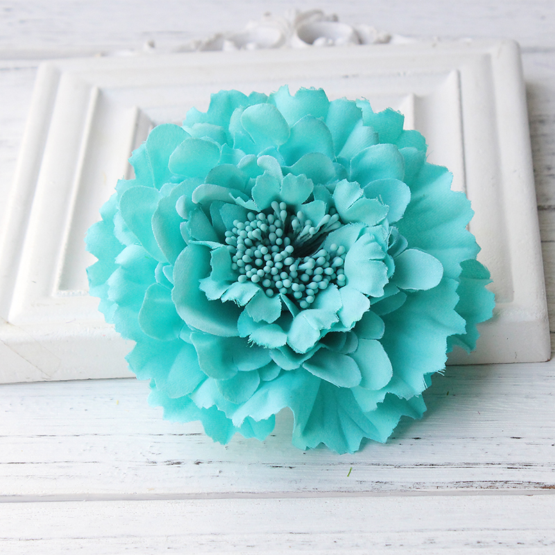 Newest style Fabric Blooming peony Flower Corsage Brooch woman Hair Decorations & Brooch wedding party Hair Clip Bridal Wedding 2016 trendy fabric blooming peony flower corsage brooch woman hair decorations