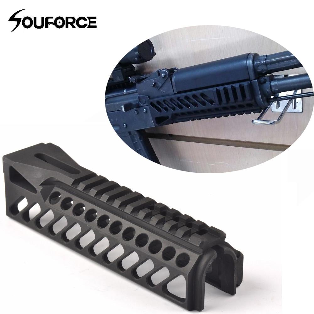 Nouveau 6.5 pouce Tactique Gun Rail Système GripExtend Picatinny Rail Handguard Couverture pour AK47 b10 lunettes de Visée Chasse Tir