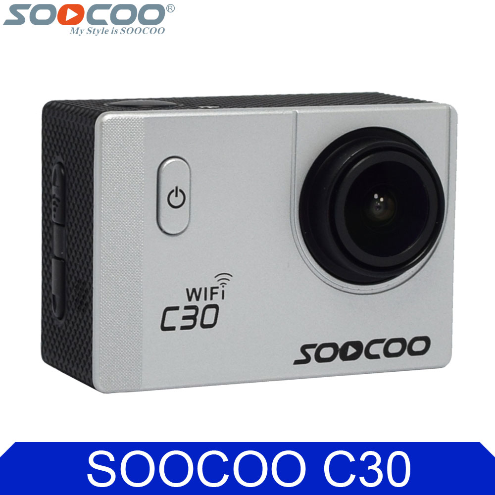 Original SOOCOO C30 4K Wifi Gyro Diving 1080P Full HD Waterproof 30m Sports Action Camera with Selfie Stick Car Charger Options soocoo c30 sports action camera wifi 4k gyro 2 0 lcd ntk96660 30m waterproof adjustable viewing angles