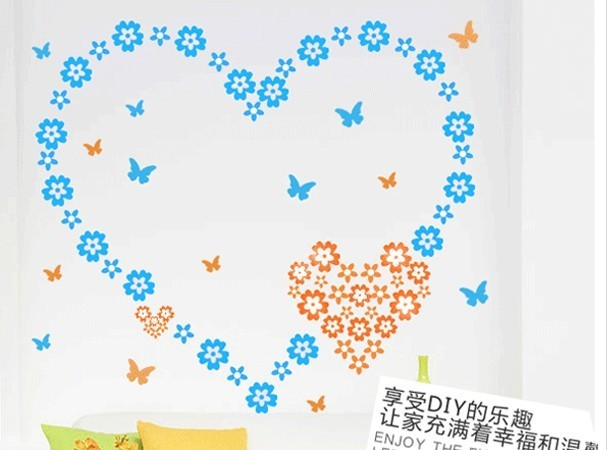 Free Shipping: 108 pices of little Daisy  6 color Art Home Wall Sticker/Room Wall Decor