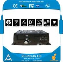 4 Canais GPS 3G EVDO Wi-fi em tempo real Full HD D1 H.264 Dupla SD Card Veículo DVR Móvel Mini Carro MDVR