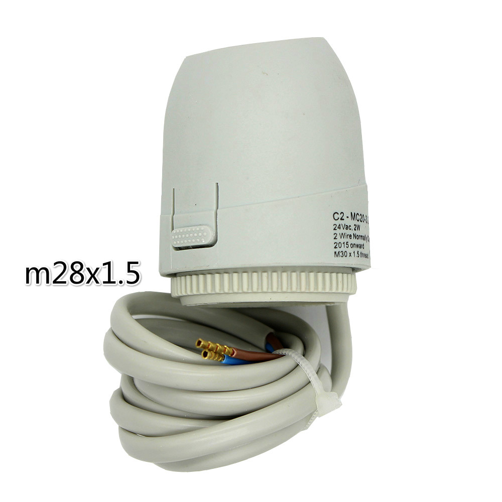 normally open normally close Electric Thermal Actuator For Underfloor Heating Thermostat Thermostatic valve  24V 230V M28X1.5normally open normally close Electric Thermal Actuator For Underfloor Heating Thermostat Thermostatic valve  24V 230V M28X1.5