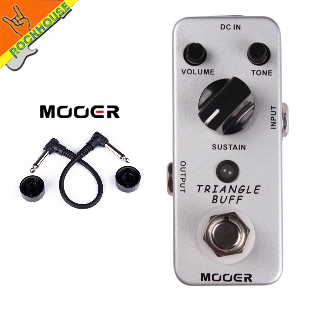 US $68 0 |MOOER Triangle Buff Fuzz Effects Pedal Bass Distortion Effects  Pedal 2 Modes: Fuzz and Dist True Bypass Free Shipping-in Guitar Parts &