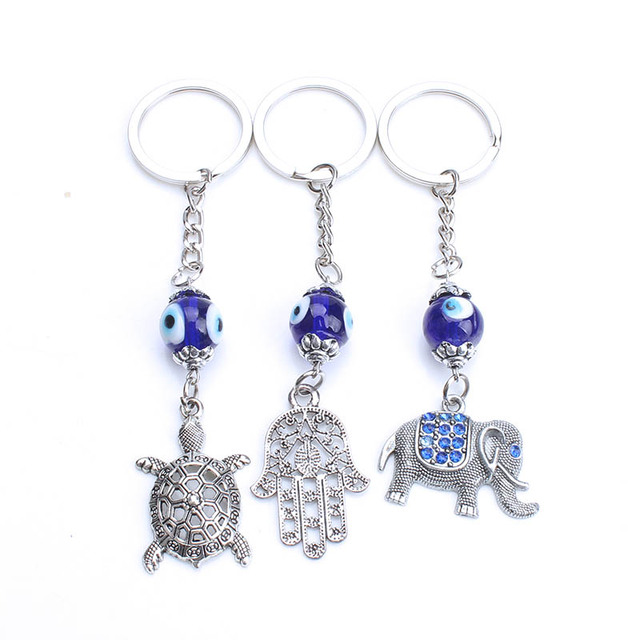 1pc Lucky turkey evil eye blue owl elephant animal key chain keyring for  women handbag decoration keychain jewelry accessories cb5ae22d21