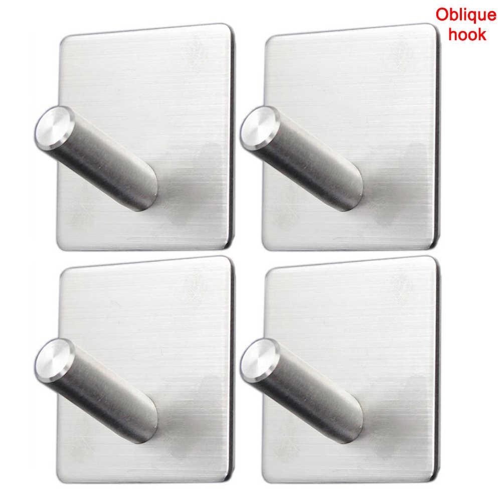 4 قطعة لاصق جدار هوكس الثقيلة الأوامر السنانير مع الفولاذ المقاوم للصدأ عصا الحمام المطبخ مكتب PAK55