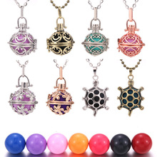 Wholesale Mexico Balls Lockets Pendant Necklace Women Pregnancy Colourful Making For Jewellery Gift
