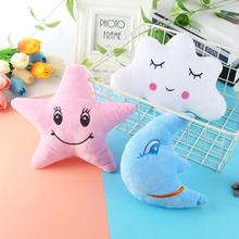 Star Moon Shaped 24 x15cm Pillow Cloud Expression Toy Plush Filled Super Soft Sofa Chair Doll Child Comfort