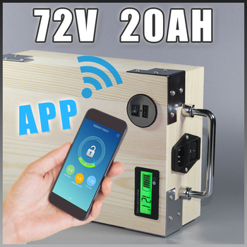 app 72V 20Ah Electric Bicycle Lithium Battery + BMS ,Charger Bluetooth GPS control 5V USB Port Pack scooter electric bike image