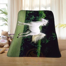P#123 Custom Horse#32 Home Decoration Bedroom Supplies Soft Blanket size 58×80,50X60,40X50inch SQ01016@H+123