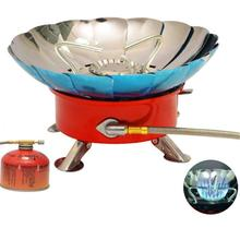 Buy HobbyLane Mini Outdoor Camping Stove Gas Stainless Steel Portable Snap-type Lotus Burner Camping Gas Stove Outdoor Accessories directly from merchant!