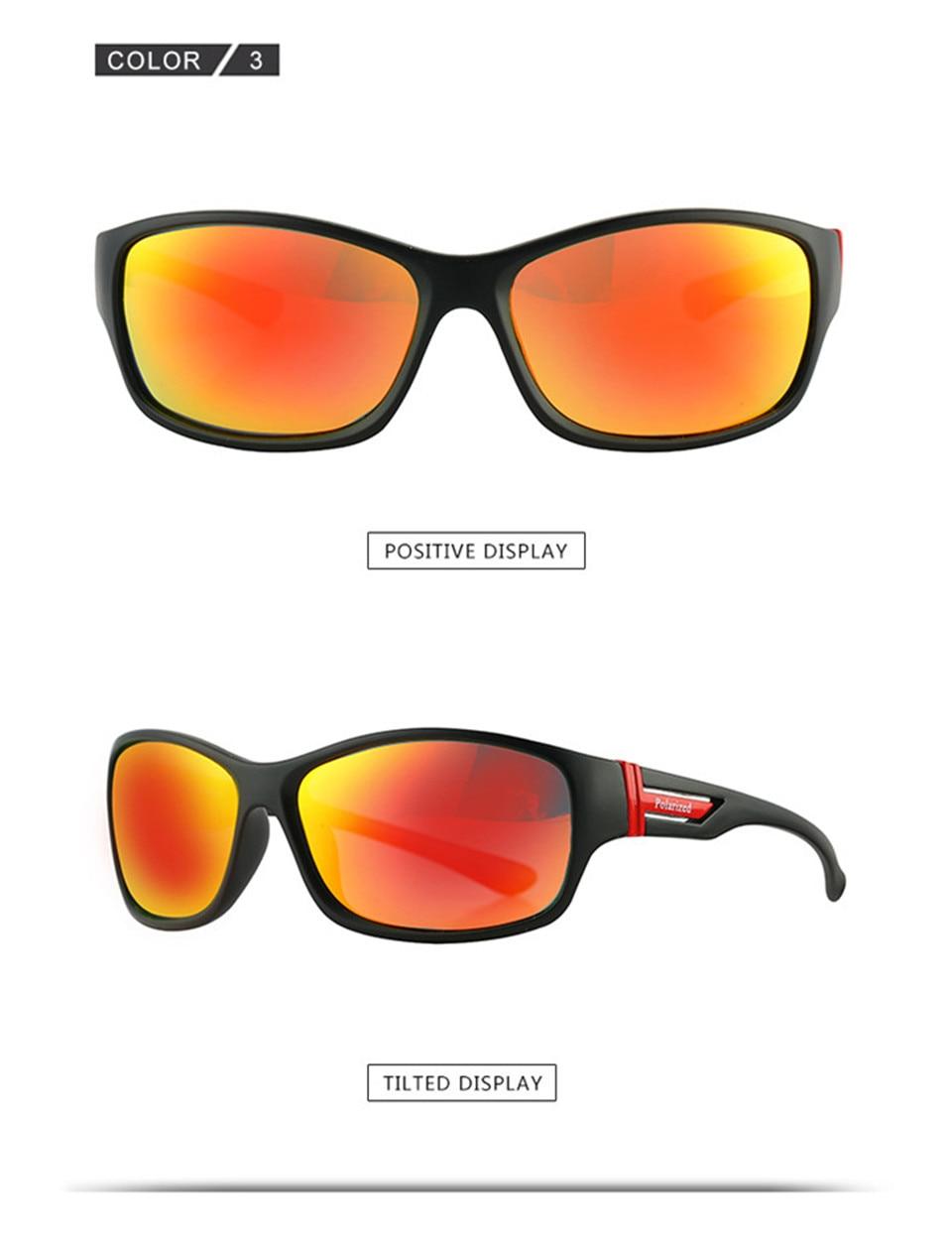 RILIXES 2018 Fashion Guy\'s Sun Glasses From Kdeam Polarized Sunglasses Men Classic Design All-Fit Mirror Sunglass (9)