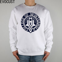 DLG COLLEGE OF WINTERHOLD SKYRIM men Sweatshirts Thick Combed Cotton