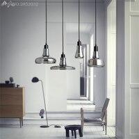 Moderne eenvoudige creative glas Hang lampen hanglampen led verlichting voor thuis nordic hanger verlichting loft stijl opknoping-in Hanglampen van Licht & verlichting op