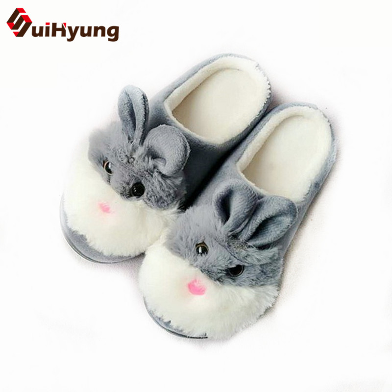 Suihyung New Funny Animal Prints Flock Home Slippers Women Winter Warm Indoor Floor Shoes Flat Cotton Shoes Short Plush Slip On suihyung new funny animal prints flock home slippers women winter warm indoor floor shoes flat cotton shoes short plush slip on