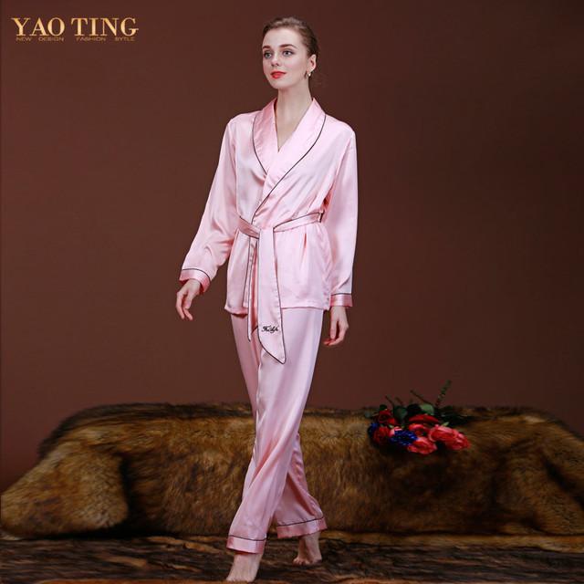 5 Cores Mulheres Conjuntos de Pijama Pijama de Cetim de Seda Pijamas Camisola Sleepwear Sexy Roupão Vestes Longue Femme Vestido de Noite WP001