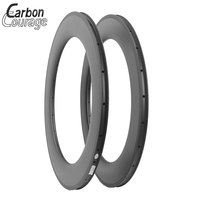 100 Hand Built Cycle Spare Parts 700c Clincher Carbon 88mm Rim 23mm Width With Basalt Braking