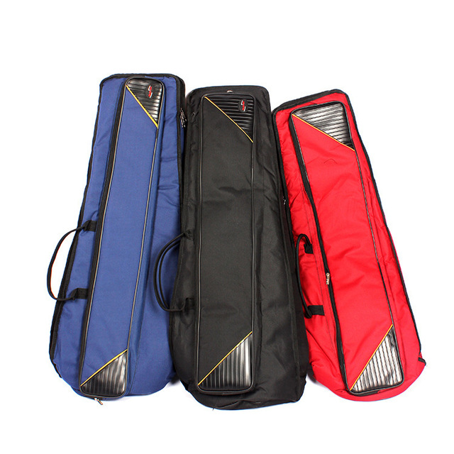 3 color wholesale professional  Portable durable alto tenor trombone bags cases cover soft gig package canvas backpack shoulder