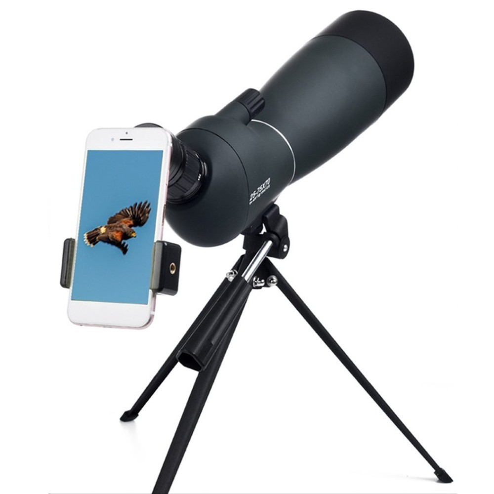 25-75*70 Angled Spotting Scope Zoom Lens Waterproof With Tripod Phone Adapter High Definition Night Vision Watching Telescope25-75*70 Angled Spotting Scope Zoom Lens Waterproof With Tripod Phone Adapter High Definition Night Vision Watching Telescope