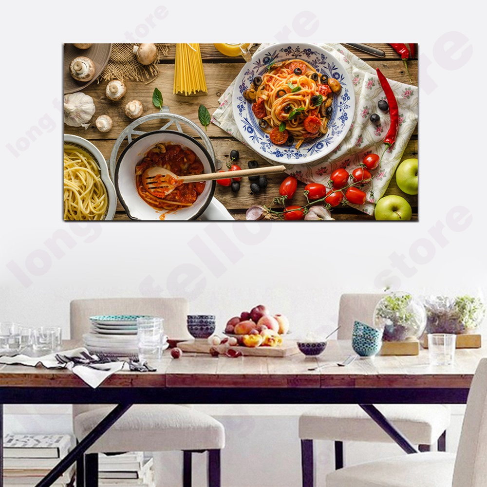 Kitchen Decor Stores: Frame Canvas Print Delicious Pasta Kitchen Home Decor