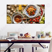 Frame Canvas Print Delicious Pasta Kitchen Home Decor Fresh Food Still Life Huge Picture for Restaurant Shop Wall Dropship