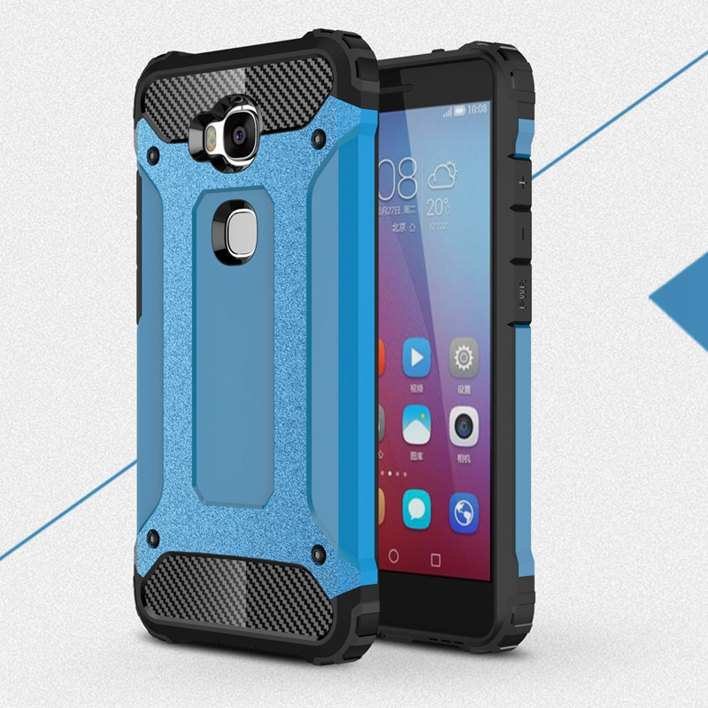 Silicone GR5 Case For Huawei GR5 Case Honor 5X Case Cover Hard PC Hybrid Heavy Duty Armor Case For Huawei Honor 5X 5 X GR5 Cover ...