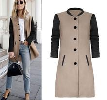 dd1f9c7d309b1 Causey 2018 Otoño Invierno mujeres A-line Slim Long Trench Patchwork  Abrigos Mujer manga larga