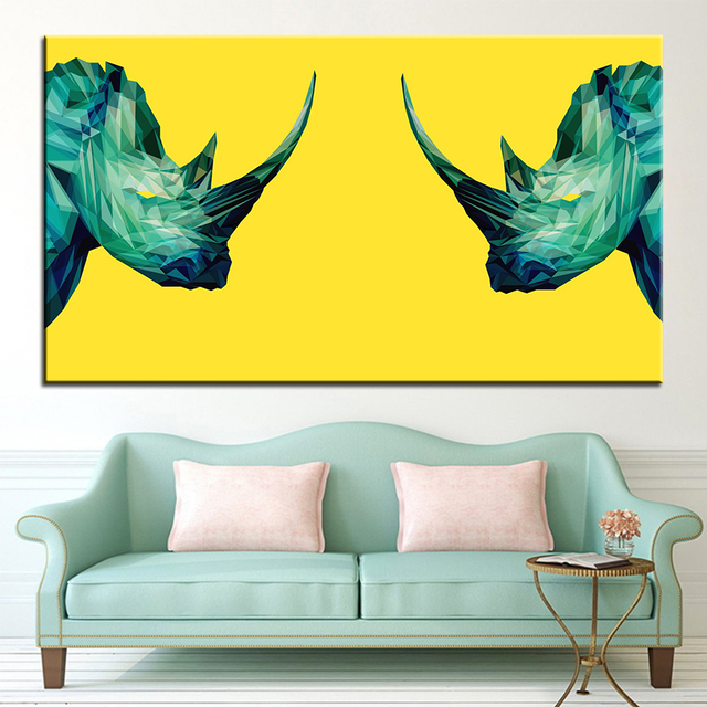 Aliexpress.com : Buy Large size Printing Oil Painting project rhino ...
