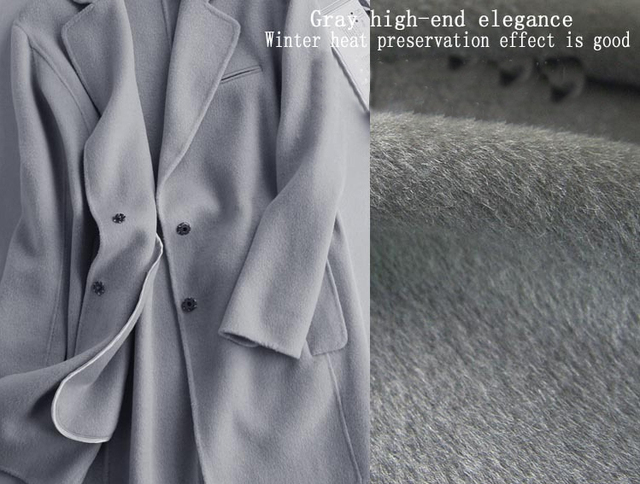 Elegancy Gray Grey Cashmere Fabric Heavy Coat Suit Material Combed ...