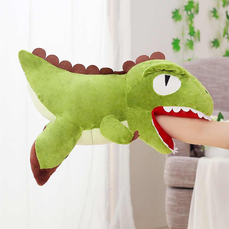 6 стилей Kawaii пуховые хлопковые мягкие игрушки-подушки мягкие теплые руки мягкий динозавр стежка мультфильм животных куклы для детей подарок